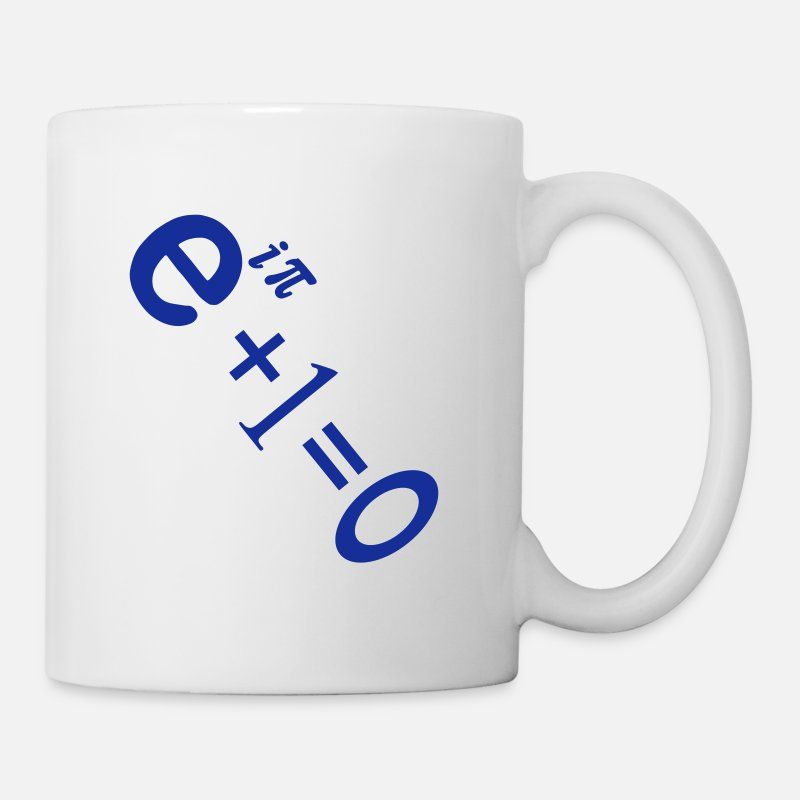 Charts Mugs & Drinkware - e i pi equation - Mug white