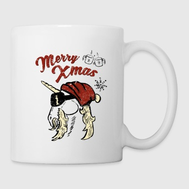 Cool Unicorn Xmas - Taza