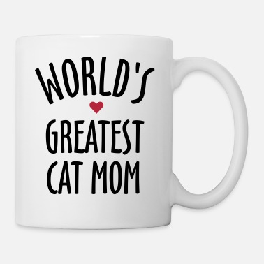 World's Greatest Cat Mom - Mug blanc