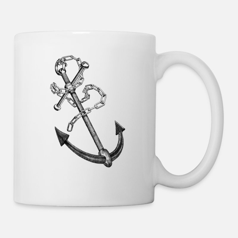 Cool Mugs & Drinkware - Anchor - Mug white