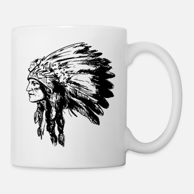 American Indian Indian face American Illustration - Mug
