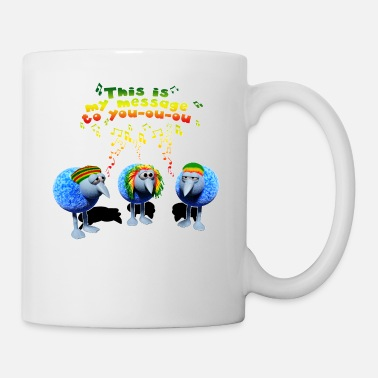 three little RASTA birds - Tasse