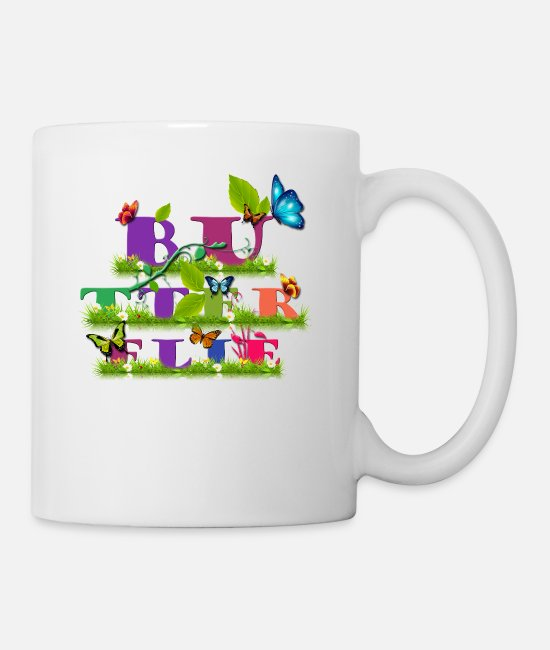 Butterflie Mugs & Drinkware - Butterflie - Mug white
