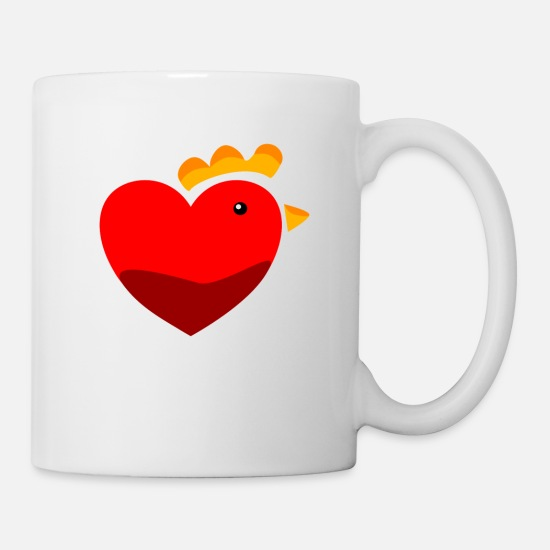 Chicken Mugs & Drinkware - Chicken chickens chicken love - Mug white