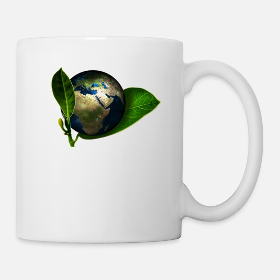 Eco Mugs & Drinkware - planet Earth - Mug white