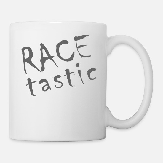 Race Track Mugs & Drinkware - RACE tastic - Mug white
