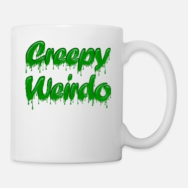 Gloopy Writing Green Gloop Creepy Weirdo - Mug