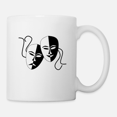 Masque masques - Mug blanc