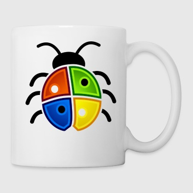 windows coccinelle - Mug blanc
