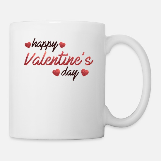 Love Mugs & Drinkware - happy valentines day special love affaction quotes - Mug white
