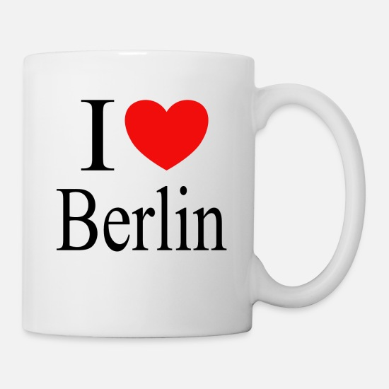 Love Mokken & toebehoor - I love Berlin - Mok wit