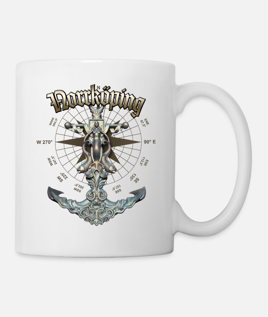 Diver Mugs & Drinkware - Norrkoping Anchor Nautical Sailing Boat Summer - Mug white