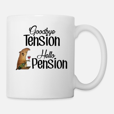 Pension Goodbye Tension Hello Pension - Tasse