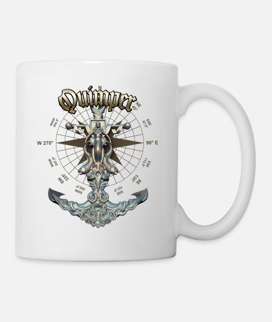 Diver Mugs & Drinkware - Quimper Anchor Nautical Sailing Boat Summer - Mug white