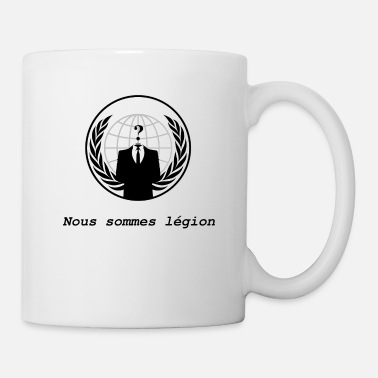Anonymous Anonymous Nous sommes légion blanc - Mug blanc