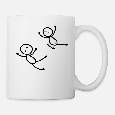 Stick Stick Figure Funny Typical Man Woman Funny - Mug