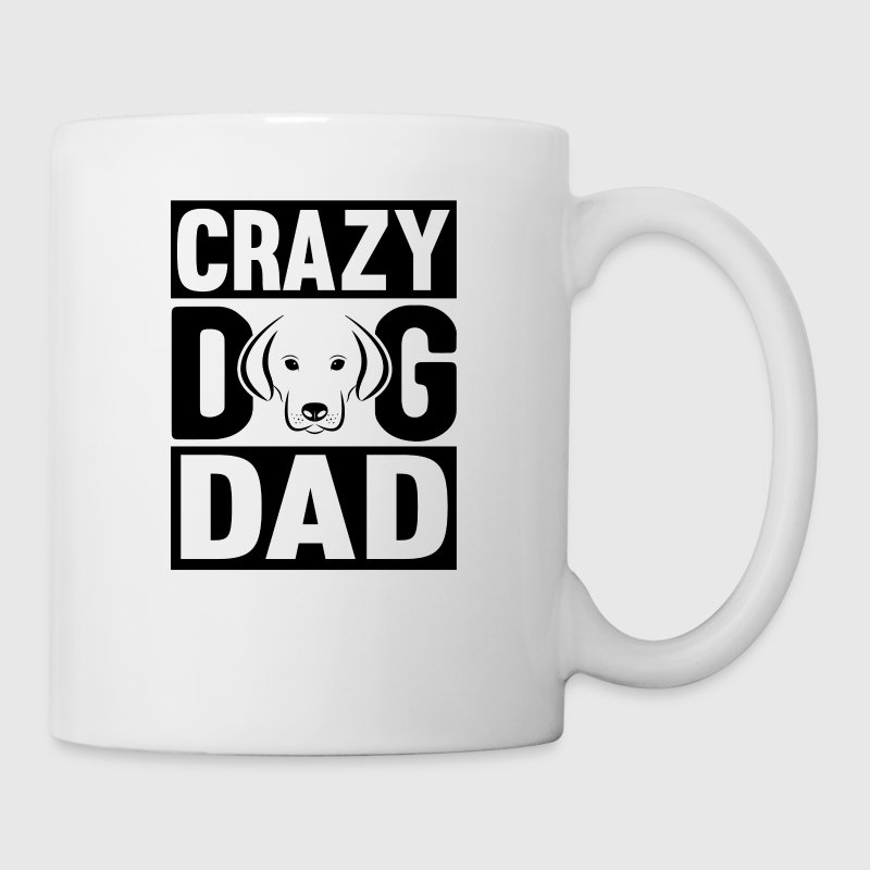 Crazy Dog Dad cadeau idee - Mok