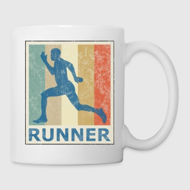 Sprint Vintage Style Sprinter Jogging Running Workout - Mug blanc
