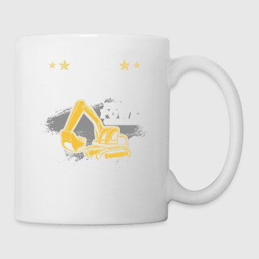 Machine Excavator construction site construction machine gift · Therapy - Mug