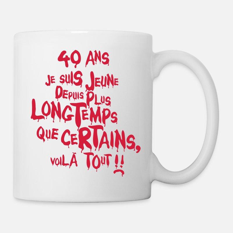 40th Anniversaire Tasse Légende Since 1979 Slogan quarante ans idée cadeau