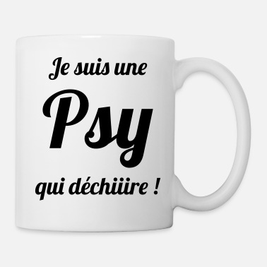 Psychologue Psychologue / Psychiatre / Travail / Psychanalyste - Mug blanc