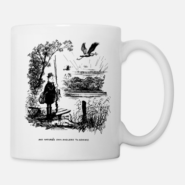 Thelwell Compleat Tangler Cartoon Nature Fisherman - Taza