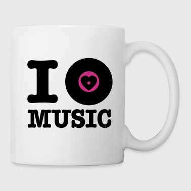 i vinyl love music - Taza