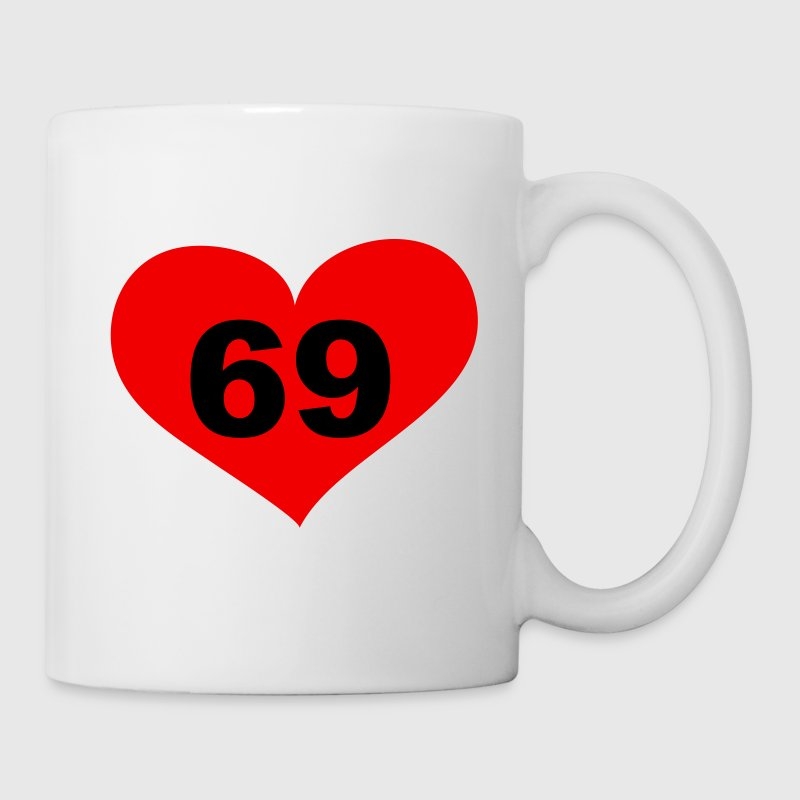 69 Love, Liebe, Heart, 69, Herz, Sex, Hot, Heiss, Pervers, Singles, Saufen, Party - eushirt.com - Taza
