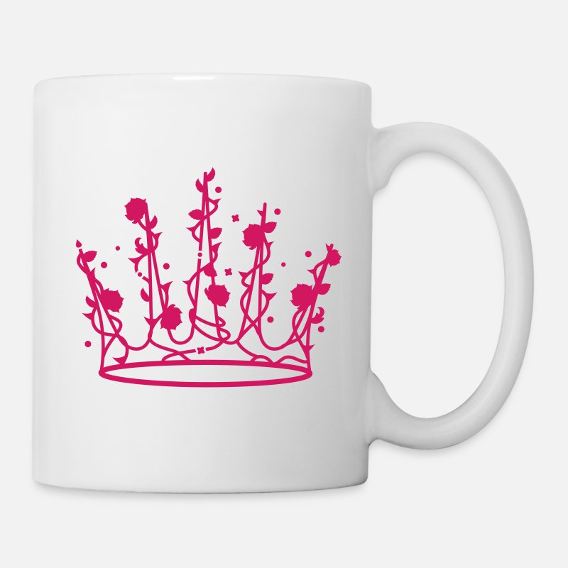 Grimm Mugs & Drinkware - Sleeping Beauty crown of roses and thorns - Mug white