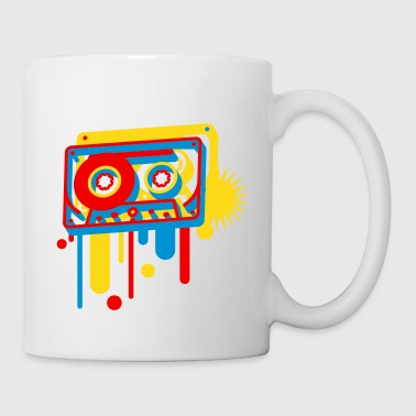 3D music cassette in graffiti style  - Mug