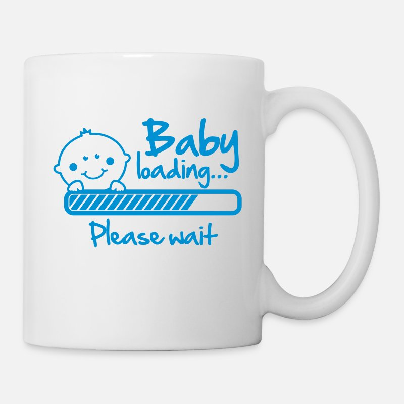 Please Tazas y accesorios - Baby loading - please wait - Taza blanco
