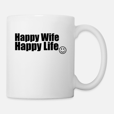 Vittig Happy Wife, Happy Life - Kop/krus