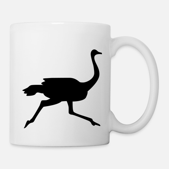Bird Mugs & Drinkware - Ostrich - Mug white