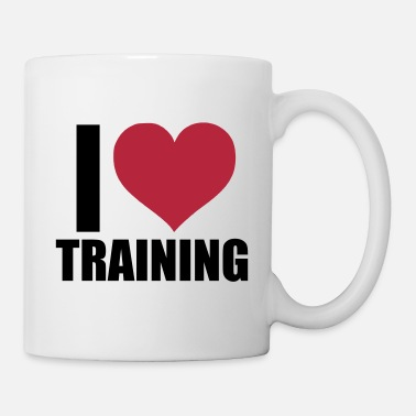 Training Tasse I love training - Mug blanc