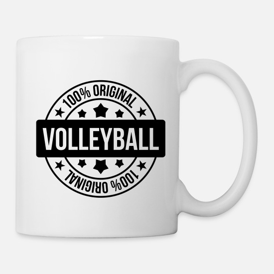 Play Mugs & Drinkware - Volleyball - Volley Ball - Sport - Sportsman - Mug white