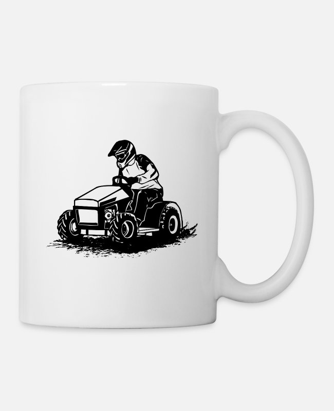 Mower Mugs & Drinkware - Lawn tractor - lawn tractor racing - Mug white