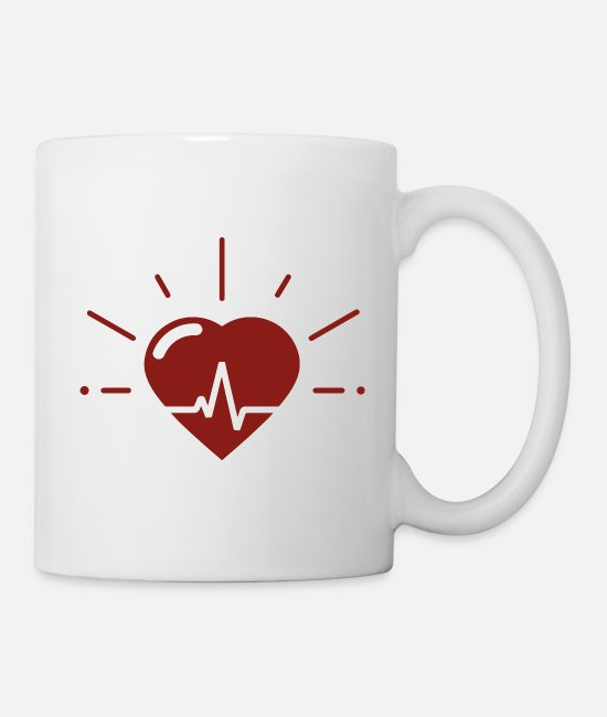 Bachelorette Mugs & Drinkware - Heartbeat for heartbeat - Mug white