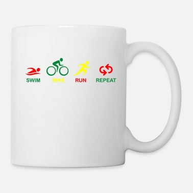 TRIATHLON SWIM BIKE RUN REPEAT - Mug