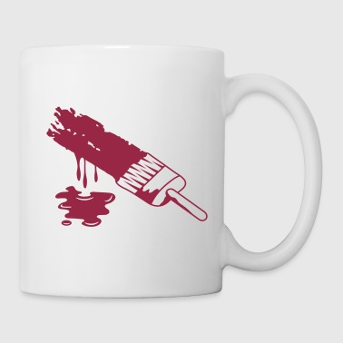 A brush and dripping paint - Mug