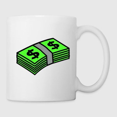 Money dollars 3 colors - Mugg