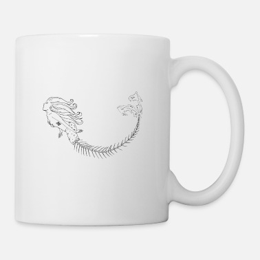 Mermaid Black Outlines - Tasse