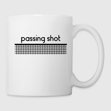 Passing Shot Tennis - Personnalisable - Mug blanc