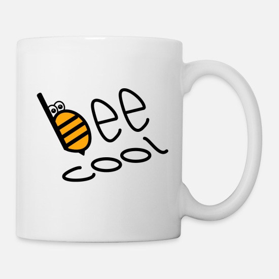 Honey Bee Mugs & Drinkware - bee cool bee honey - Mug white
