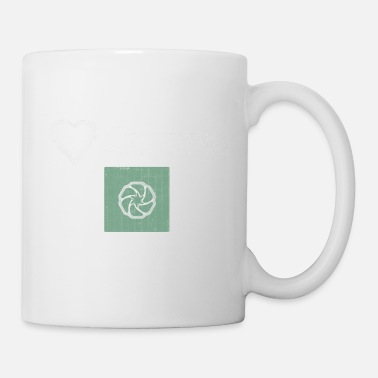 Cadre We Love Cycling - Design Premium - Mug blanc