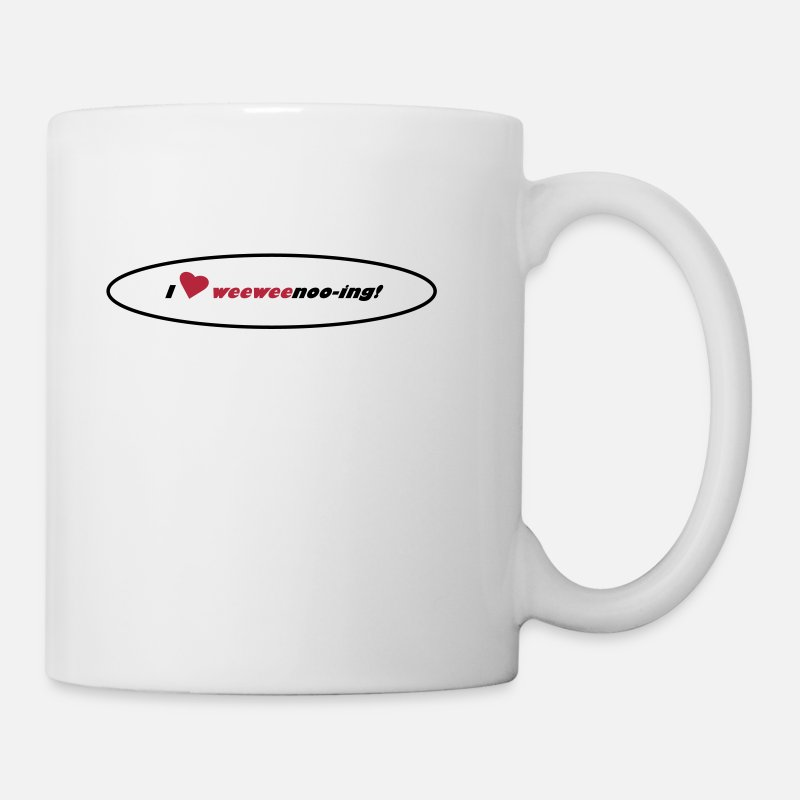 Personal Development Mugs & Drinkware - i_love_weeweenooing - Mug white