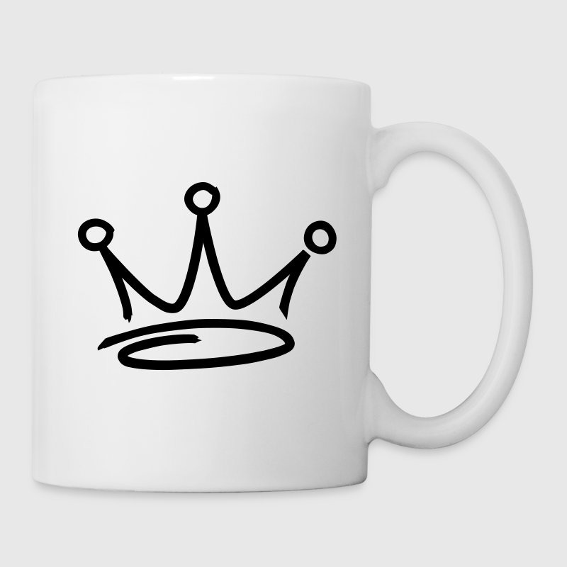 graffiti style crown - Mug