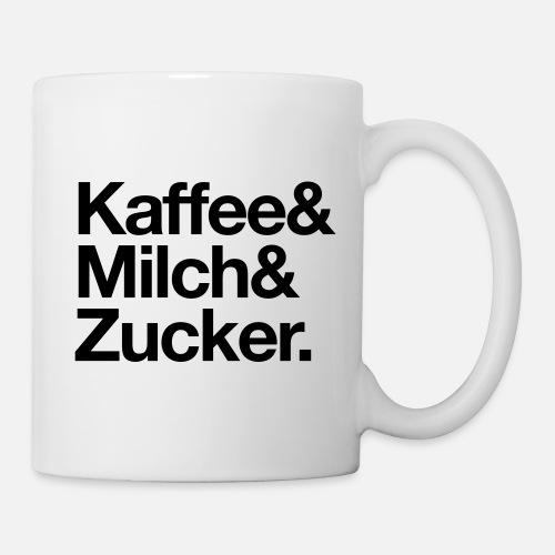 Kaffee Milch Zucker Tasse Spreadshirt