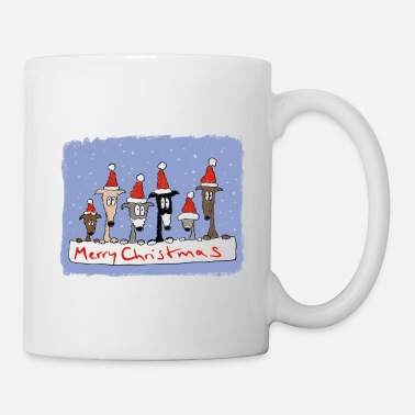 Sighthound Christmas with sighthounds - Mug