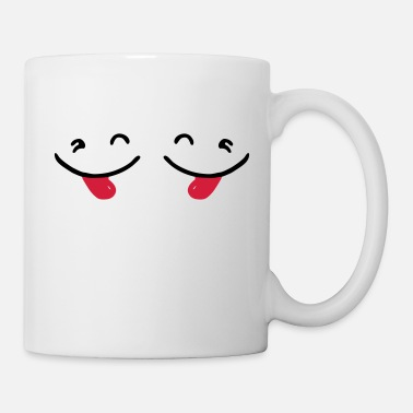 Fringant ✔ټ Naughty Cute Twin Emoticon-Sticking a Tongue Out - Mug