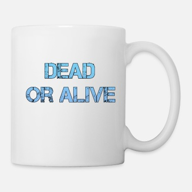 Splatter Dead Or Alive Logo Retro Blue Urban DeadOrAlive - Tazza